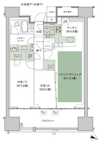 2LD·K+N+2WIC+SIC+収納室