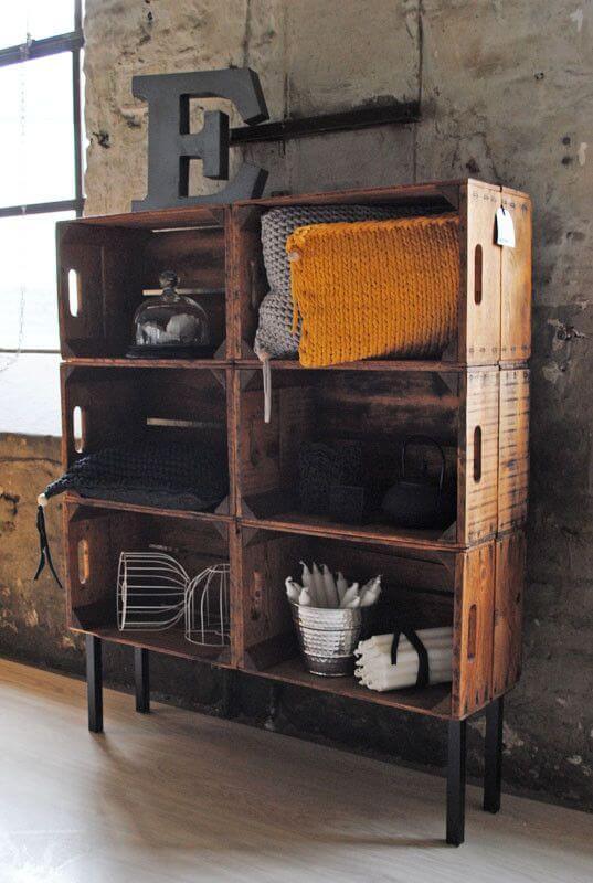 木箱DIY棚