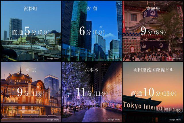 東京モノレールでの所要時間