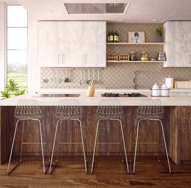 狭いキッチンに作業台とカウンターを作る