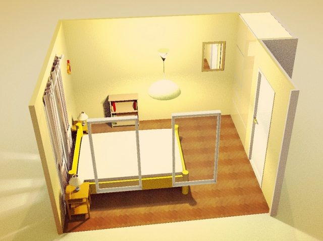 7畳寝室・縦・シンメトリー