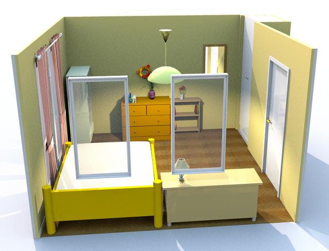 8畳寝室・横・端寄せ