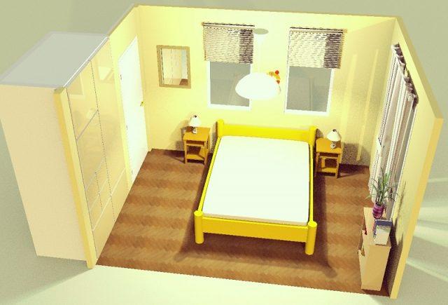 6畳寝室・横シンメトリー