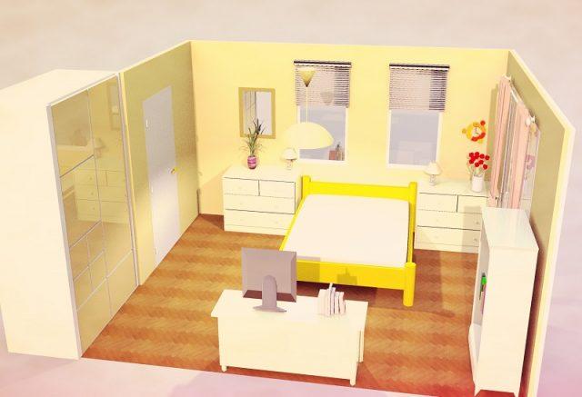 9畳寝室・横・シンメトリー