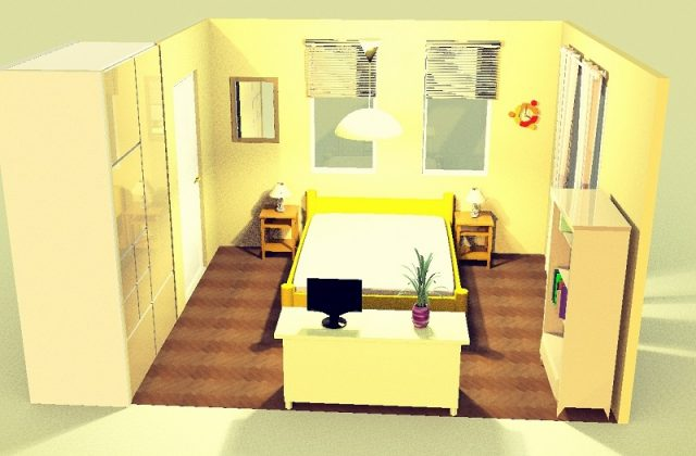 7畳寝室・横・シンメトリー