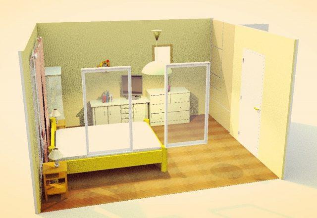 9畳寝室・縦・シンメトリー