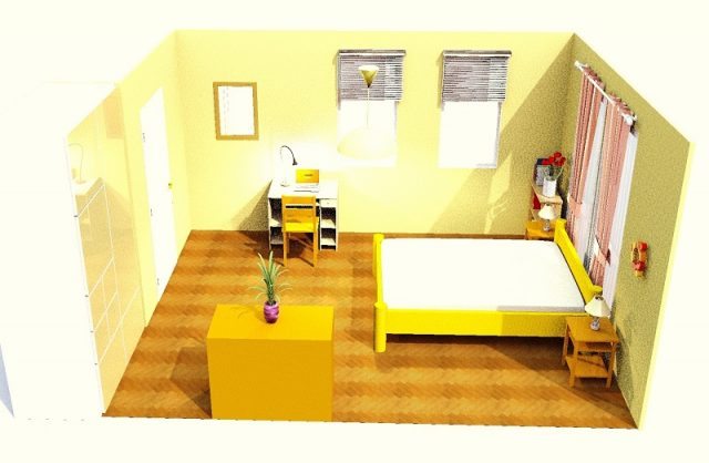 10畳寝室・縦・シンメトリー