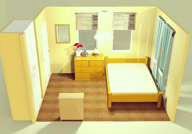 6畳寝室・横・端寄せ