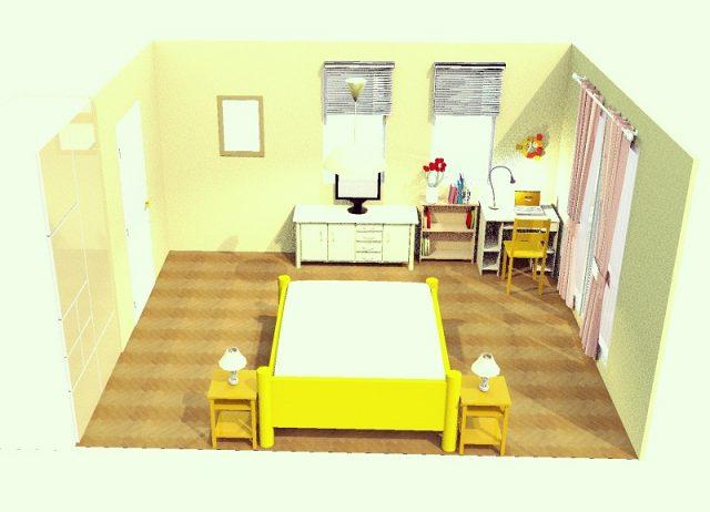 10畳寝室・横・シンメトリー