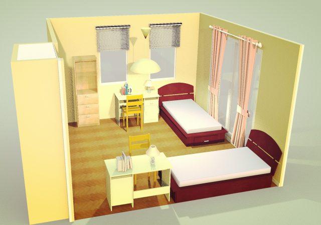 子供部屋2ベッド