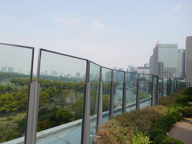東京ミッドタウンのテラスから見た東京都心