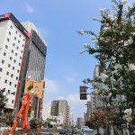浅草の国際通り沿いで建設中のホテル